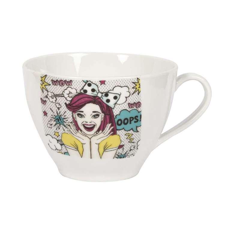 Porselen Kupa / Bayan Resimli Desen