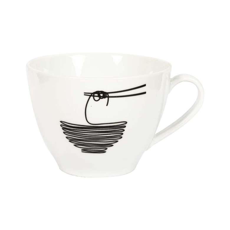 Porselen Kupa / Makarna Kaşığı Deseni