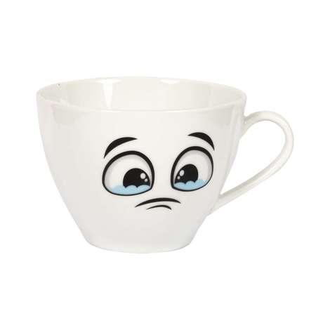 Porselen Kupa / Çatık Kaşlı Yüz Emoji