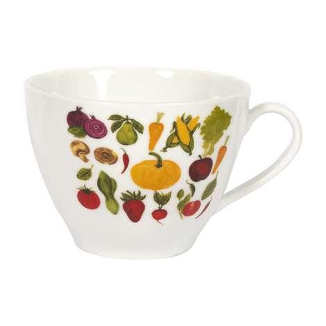 Porsel Kupa/karışık Sebze Meyve Resmi