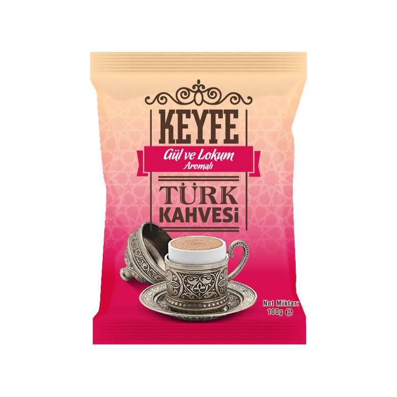 Keyfe Güllü Lokumlu Türk Kahvesi 100 G