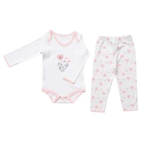Bebek Zıbın Ve Tek Alt Set - Pembe 0 - 3 Ay