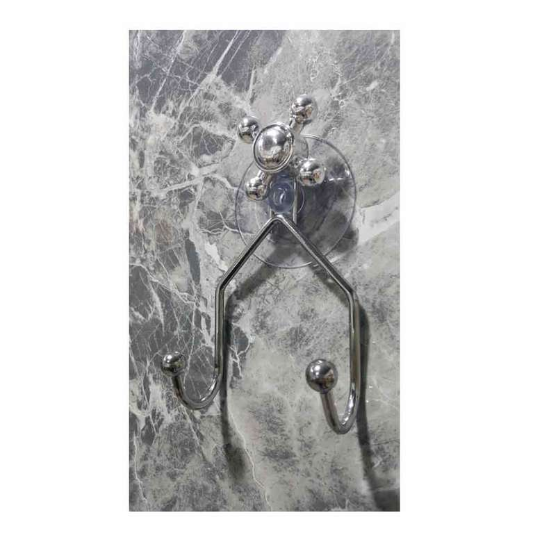 Vantuzlu İkili Askı - Krom Banyo Aksesuarları