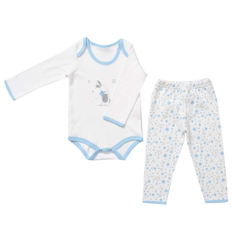Bebek Zıbın Ve Tek Alt Set - Mavi 6 - 9 Ay