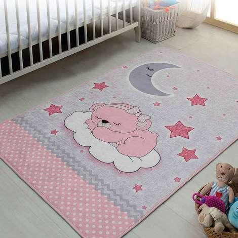 Bebek Oda Halısı 100x150 cm - Pembe
