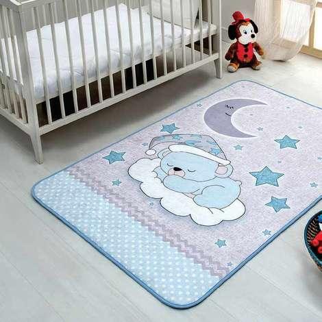 Bebek Oda Halısı 100x150 Cm - Mavi