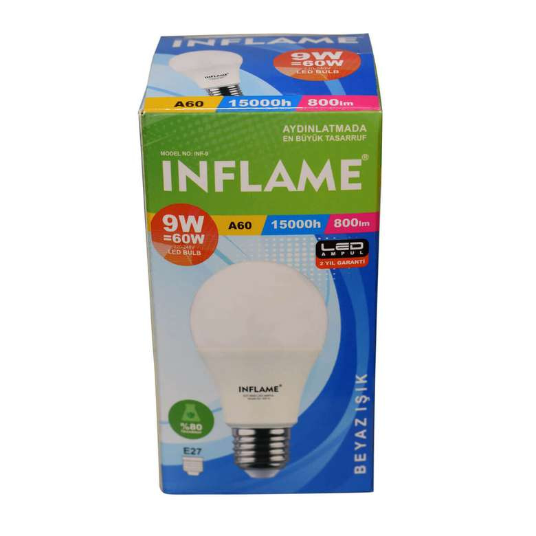 Inflame Led Ampul 9 W
