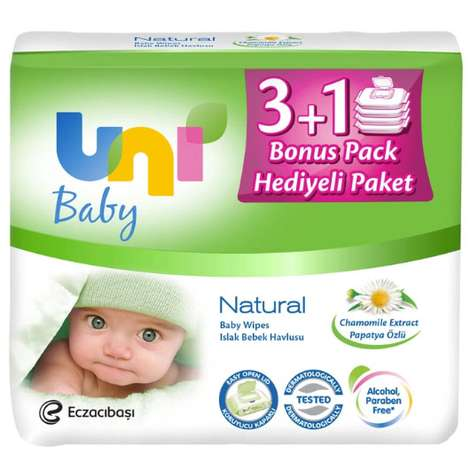 Unı Baby Islak Havlu Natural 4x56