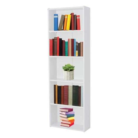 Dienni Kitaplık 5 Raflı Beyaz 170x56x20 Cm