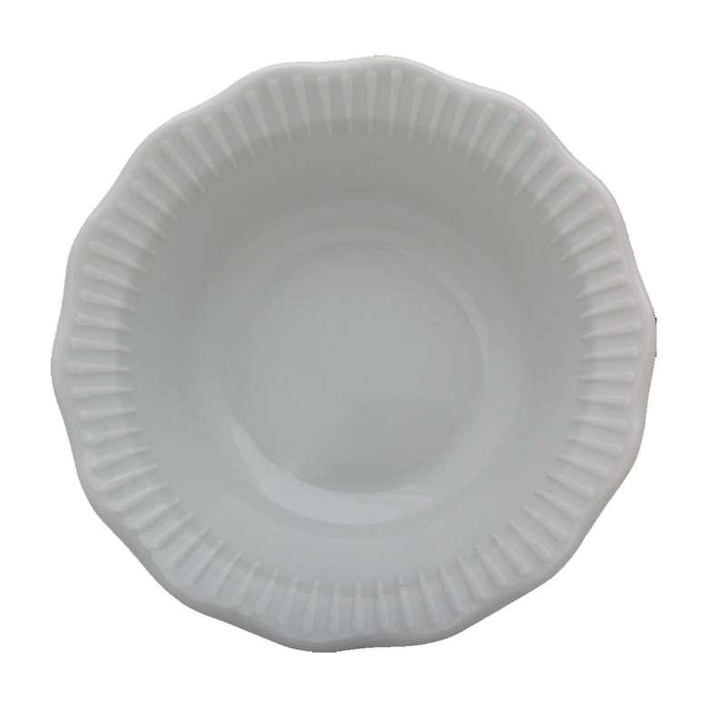 Porland Tekli Porselen Çukur Tabak 19 Cm