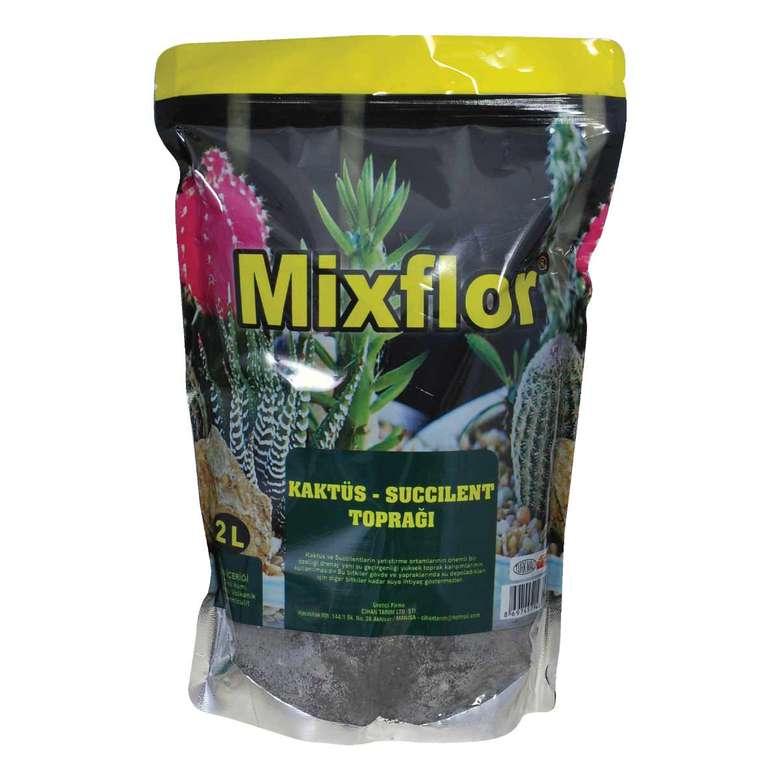 Mixflor Sukulent ve Kaktüs Toprağı 2 L