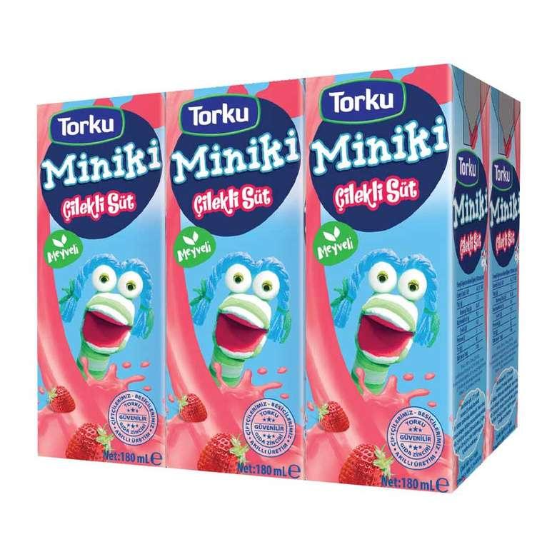 Torku Miniki Çilekli Süt 6x180 Ml