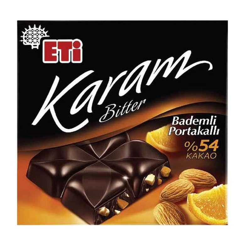 Eti Karam Çikolata Portakal- Bademli 80 G