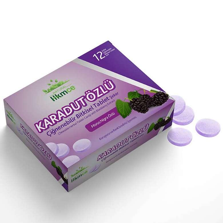 Hkmce Natural Karadut Özlü Çiğneme Tableti  30 G