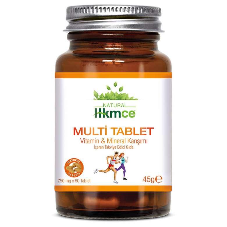Hkmce Natural Multi Tablet Gıda Takviyesi 60'lı