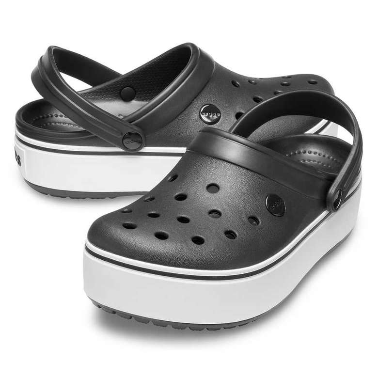 Crocs 205434-066 Platform Kadın, Siyah, 37-38