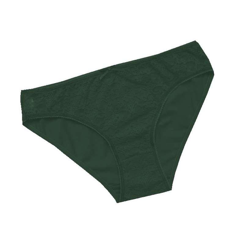 Marie Claire Bayan Dantelli Slip 3'lü - Yeşil, S-M