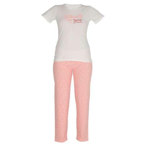 Marie Claire Bayan Kısa Kollu Pijama Takımı - Pembe M