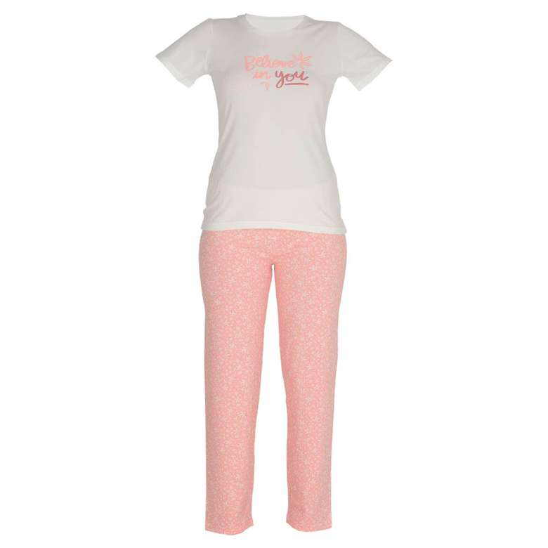 Marie Claire Bayan Kısa Kollu Pijama Takımı - Pembe, XL