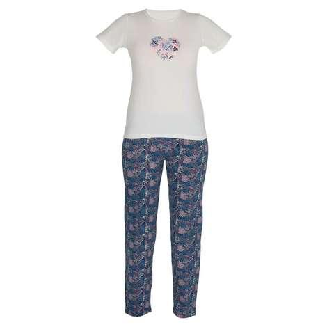 Marie Claire Bayan Kısa Kollu Pijama Takımı -  Lacivert S