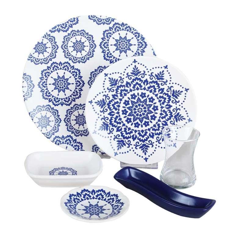 Keramika Dantel Desenli 19 Parça Kahvaltı Seti