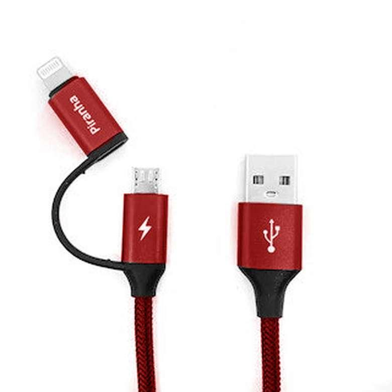 Piranha 3352 Dual Usb Kablo - Kırmızı
