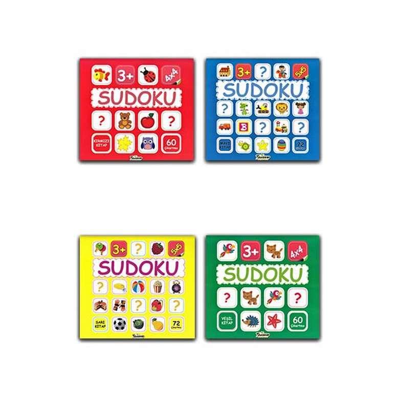 Çocuklar İçin Sudoku Seti - 4 Kitap