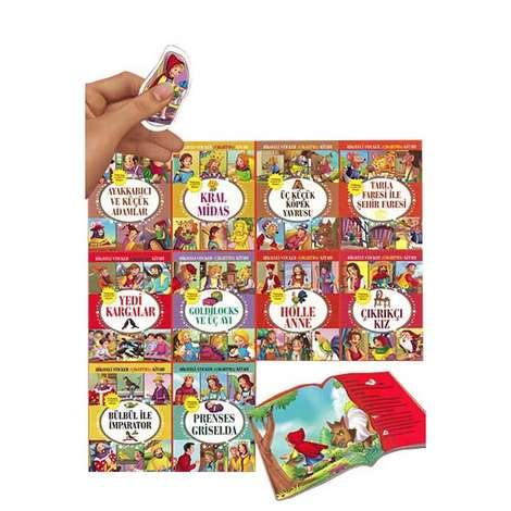 Hikayeli Sticker Çıkartma Kitapları Serisi - 10 Kitap - Set 2