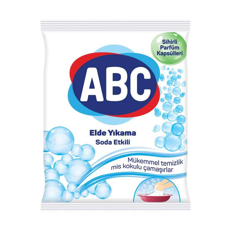 ABC Toz Deterjan Elde Yıkama Soda Etkili 600 G