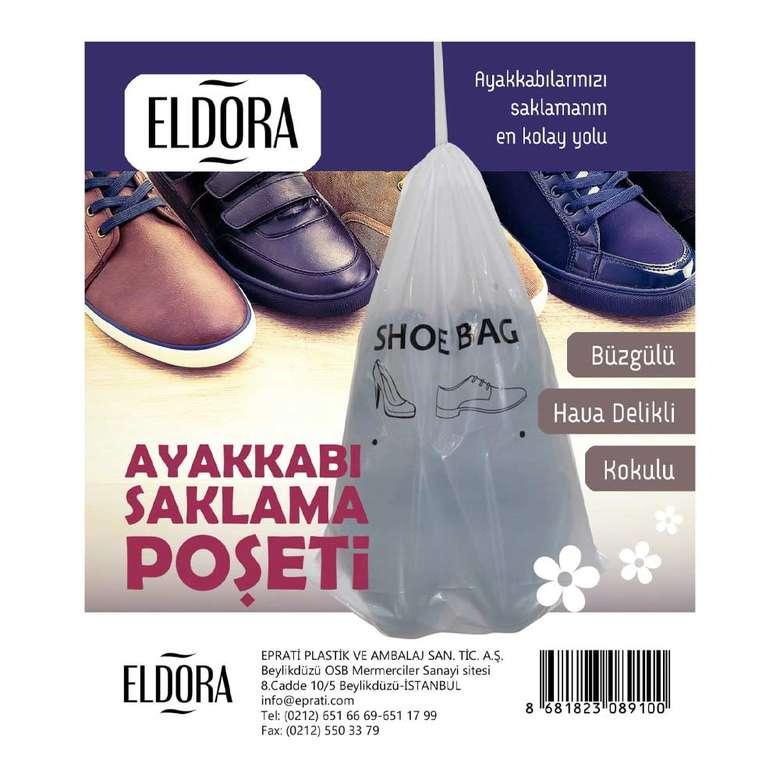 Eldora Parfümlü Hava Delikli Büzgülü Ayak Saklama Poşeti