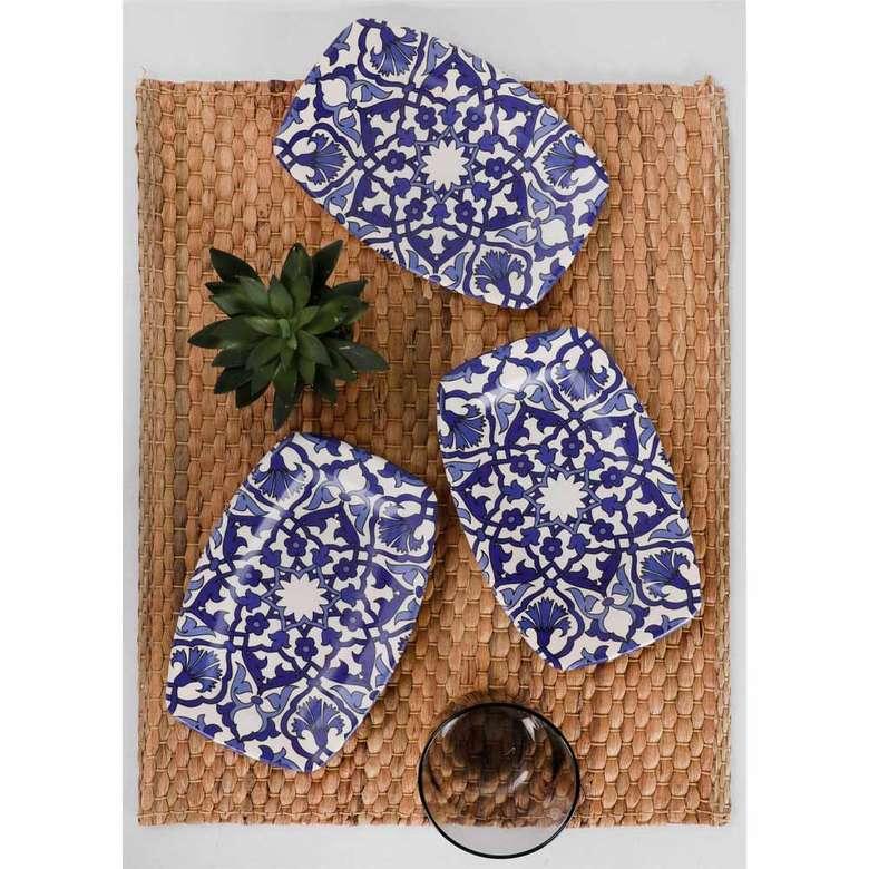 Keramika Osmanlı Deniz Kayık Tabak 19 Cm 3 Adet - 17667