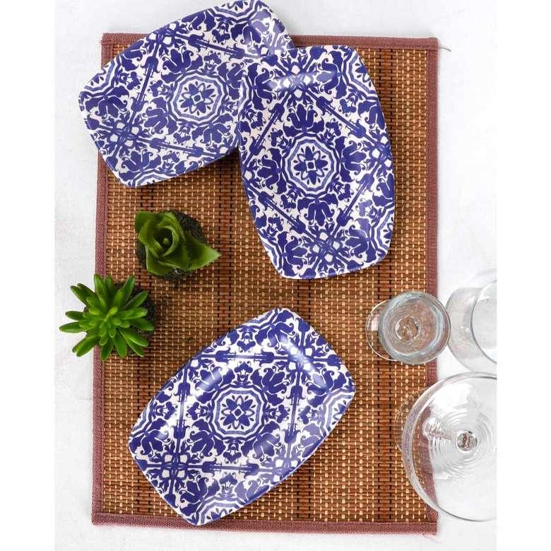 Keramika Anev Deniz Kayık Tabak 19 Cm 3 Adet - 17670