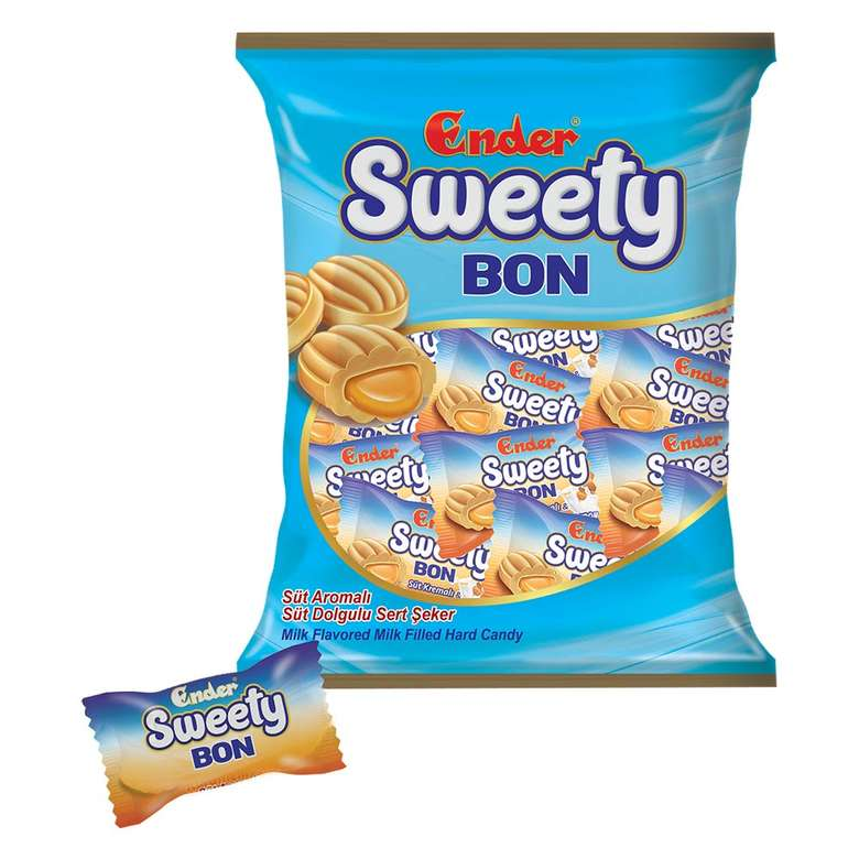 Ender Sweety Bon Süt Dolgulu Sert Şeker 350g