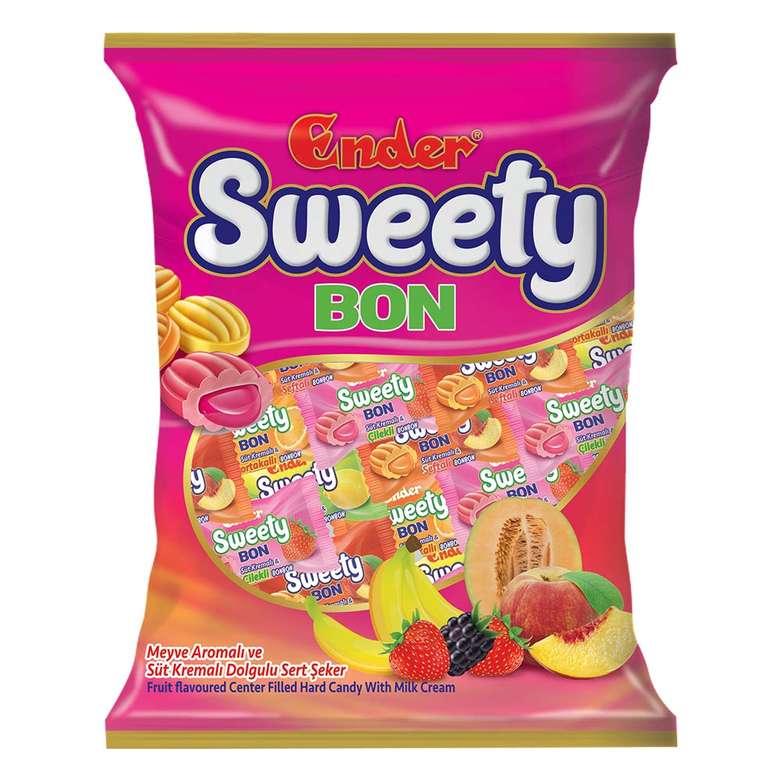 Ender Sweety Bon Meyve Aromalı ve Süt Dolgulu Sert Şeker 350g