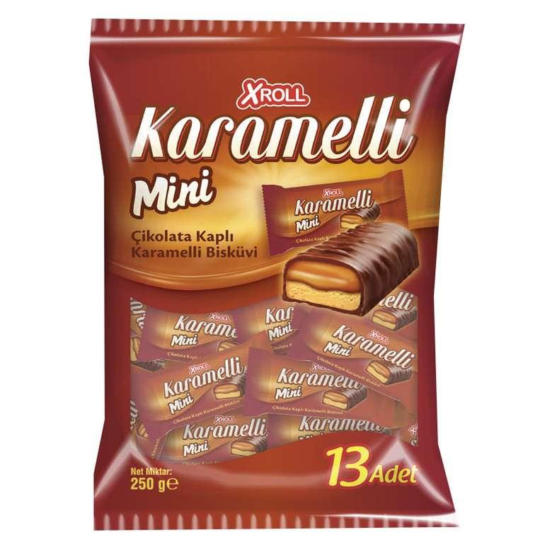 Xroll Bar Çikolata Karamelli Mini 250 G