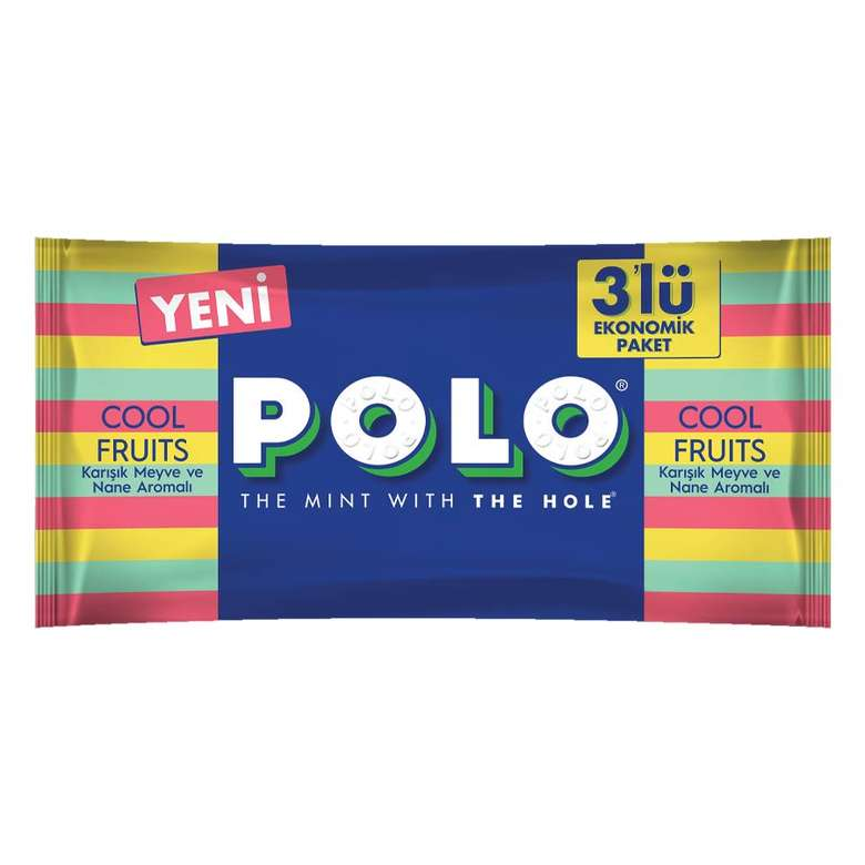 Nestle Polo Sert Şeker Karışık Meyve Aromalı 3*37 G