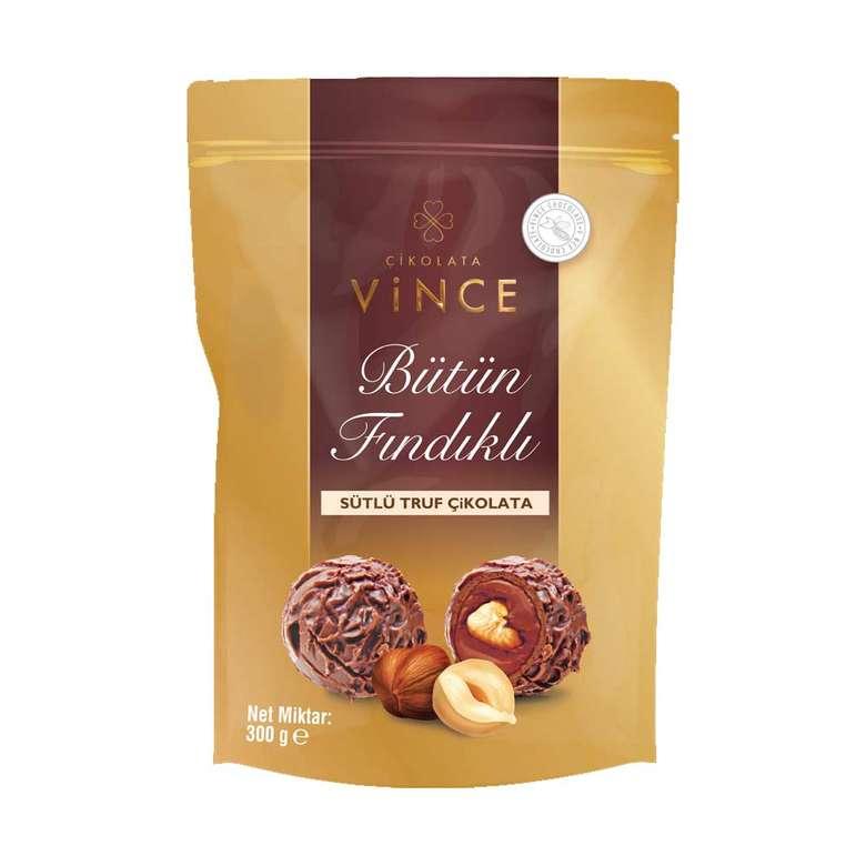Vince Bütün Fındıklı Sütlü Trüf Çikolata 300g