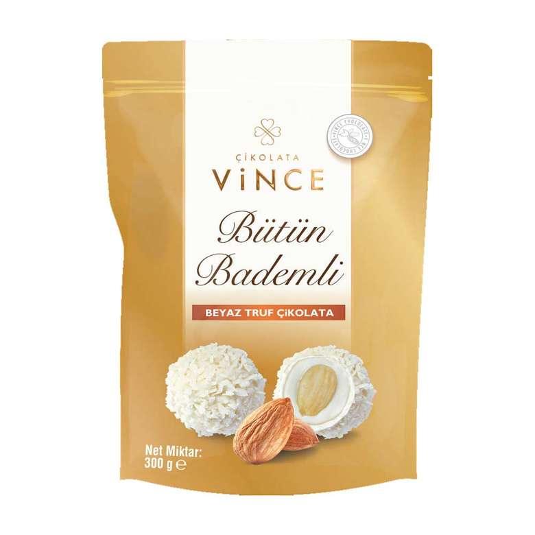 Vince Bütün Bademli Beyaz Trüf Çikolata 300g