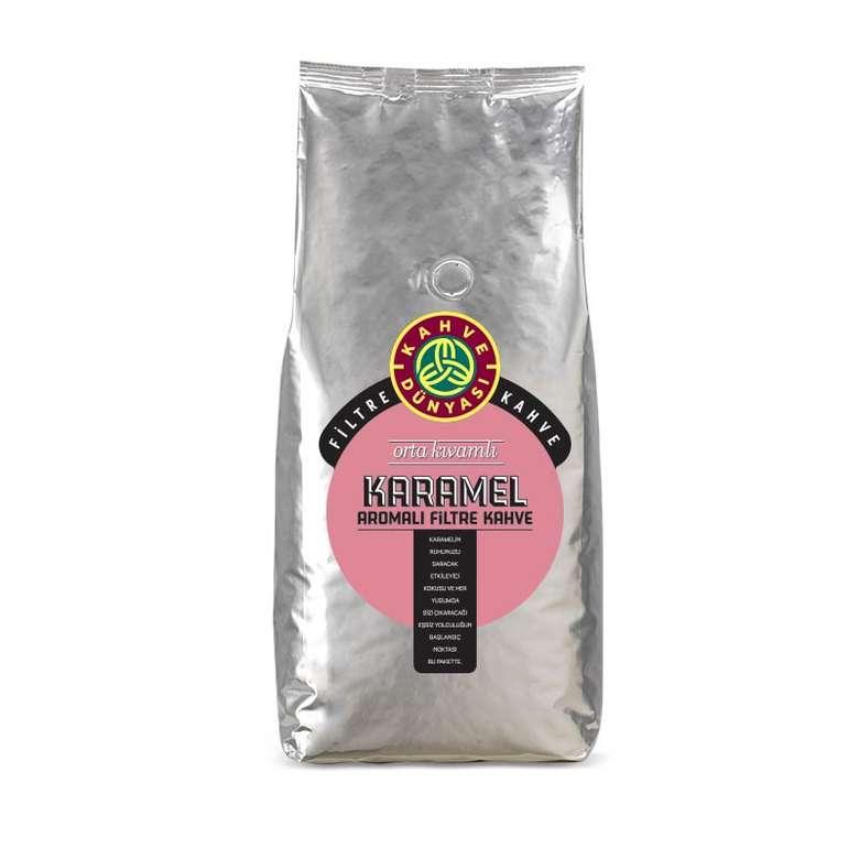 Kahve Dünyası Karamel Aromalı Filtre Kahve Çekirdek  1 Kg