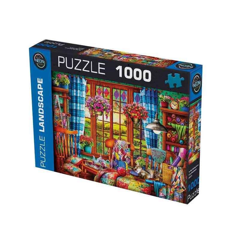 1000 Parça Puzzle - Mavi