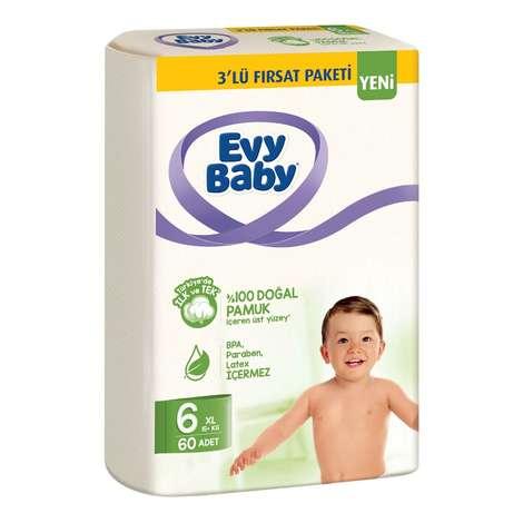 Evy Baby Çocuk Bezi X-Large 60'lı