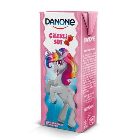 Danone Süt Çilekli 180 Ml