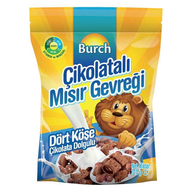 Burch Çikolata Dolgulu Dörtköşe Mısır Gevreği 310 G