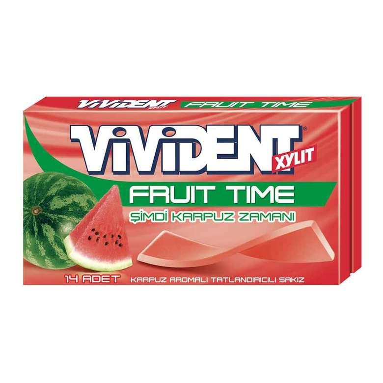 Vivident Fruit Time Sakız Karpuz Aromalı 26 gr