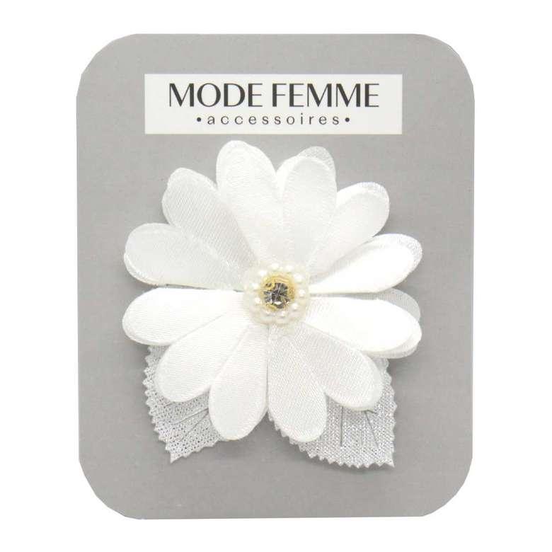 Toka Çiçekli Kumaş - Beyaz