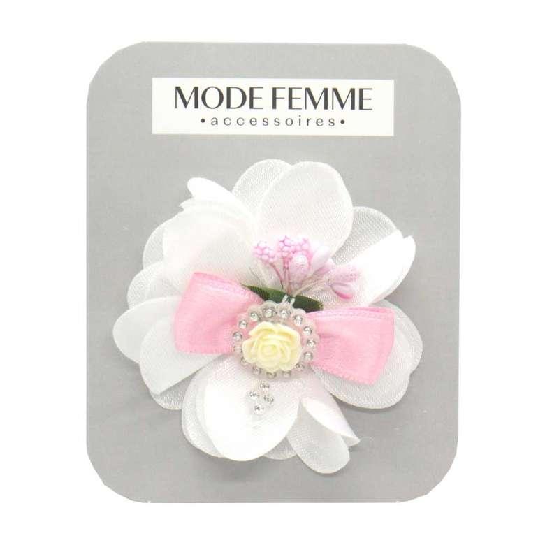 Toka Çiçekli Kumaş - Pembe-beyaz