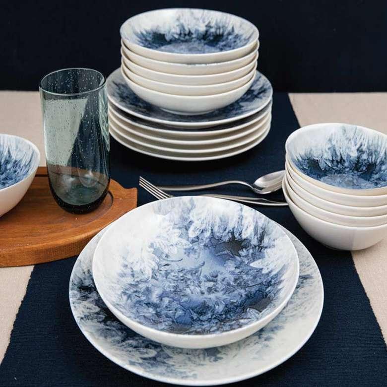 Güral Porselen Yemek Takımı 18 Parça - Mavi