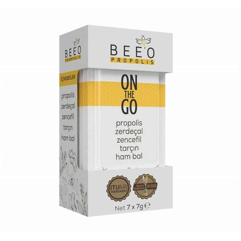 Bee'O On The Go Propolis Zerdeçal Zencefil Tarçın Hambal 7 X 7 G