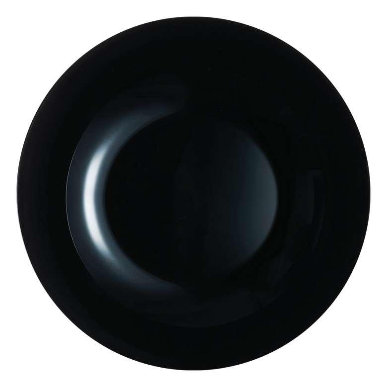 Yemek Tabağı Beyaz Zelie 20 Cm-Siyah