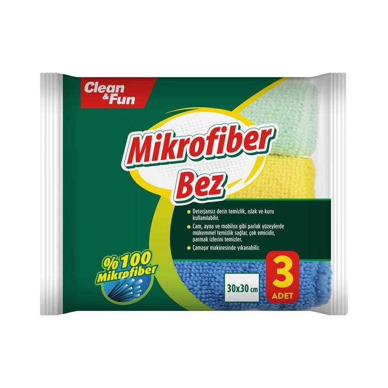 Clean & Fun Temizlik Bezi Mikrofiber 3'lü